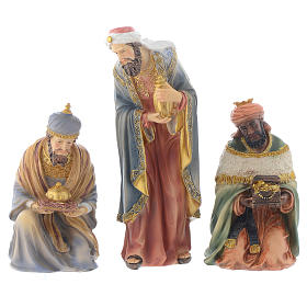Resin nativity figurines, 8 pieces for a nativity of 20.5cm s4