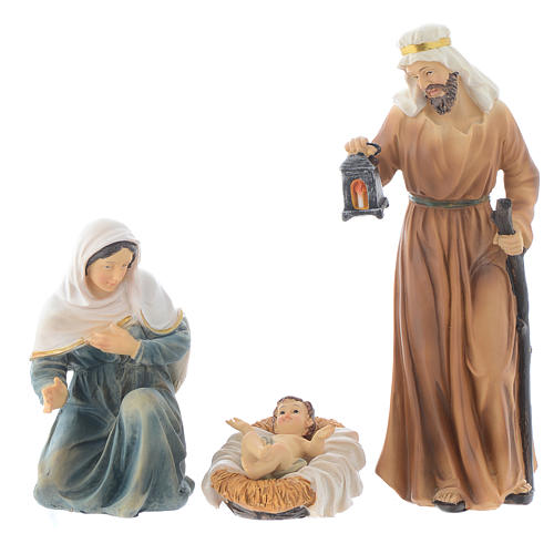 Resin nativity figurines, 8 pieces for a nativity of 20.5cm 2
