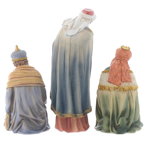 Resin nativity figurines, 8 pieces for a nativity of 20.5cm 5