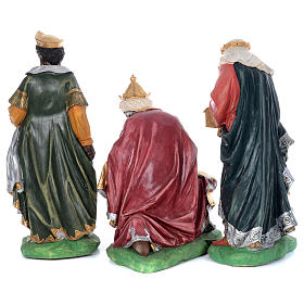 Painted fiberglass nativity scene with 9 statues, 95 cm   s4