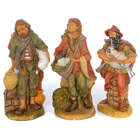 Set of 10 shepherd rubber statues 40 cm s2