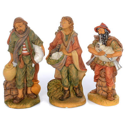 Set of 10 shepherd rubber statues 40 cm 2