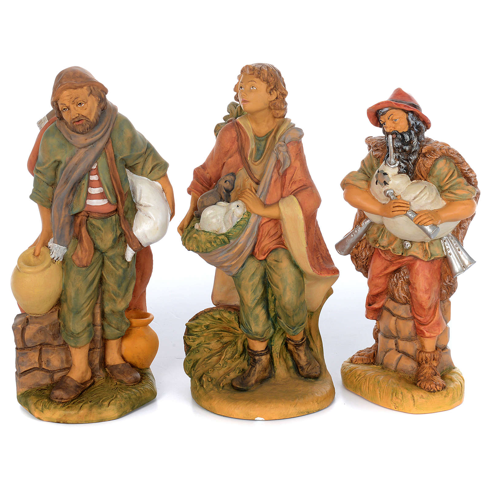 Pastori presepe 10 statue in materiale infrangibile 40 cm 4