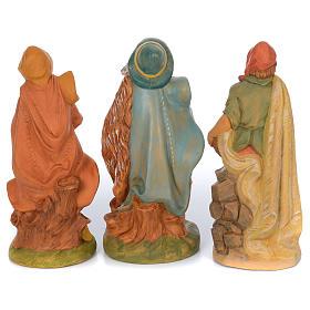Pastori presepe 10 statue in materiale infrangibile 40 cm s4