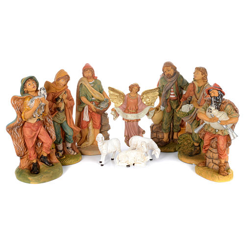 Pastori presepe 10 statue in materiale infrangibile 40 cm 1