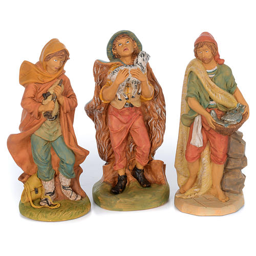 Pastori presepe 10 statue in materiale infrangibile 40 cm 3