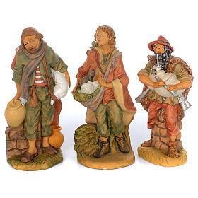 Set of 10 shepherd rubber statues 40 cm s2