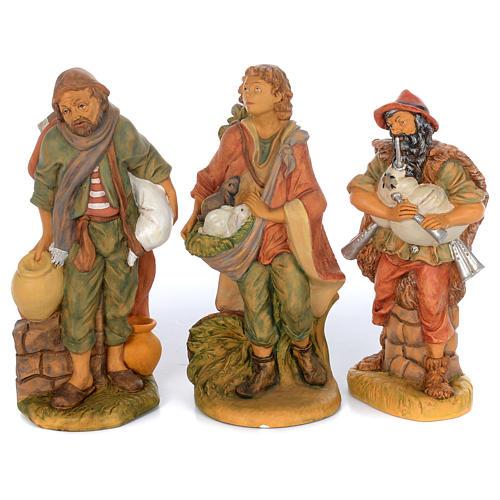 Set of 10 shepherd rubber statues 40 cm 2