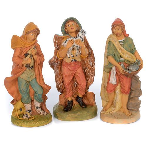 Set of 10 shepherd rubber statues 40 cm 3