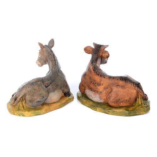 Set of 8 rubber statues 40 cm 6