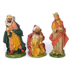 Presepe da 8 statue in materiale infrangibile 40 cm s3
