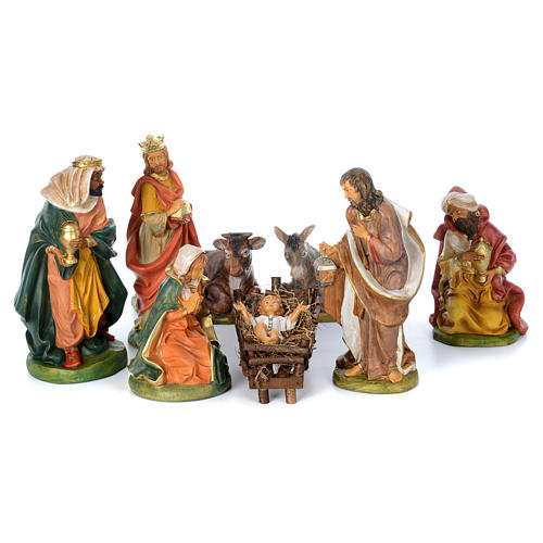 Presepe da 8 statue in materiale infrangibile 40 cm 1