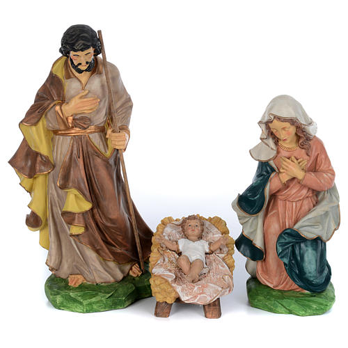 Resin nativity scene set 9 pieces 65 cm 2