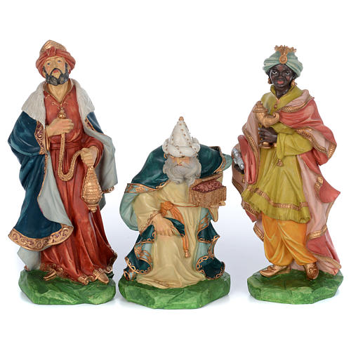 Resin nativity scene set 9 pieces 65 cm 3