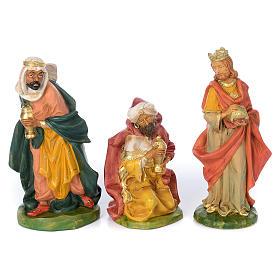 Presepe completo in materiale infrangibile cm 40 - 18 statue s3