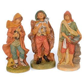 Presepe completo in materiale infrangibile cm 40 - 18 statue s6