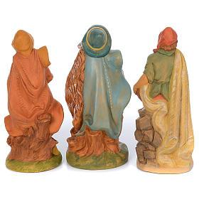 Presepe completo in materiale infrangibile cm 40 - 18 statue s8