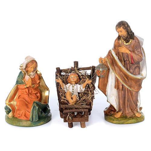 Presepe completo in materiale infrangibile cm 40 - 18 statue 2