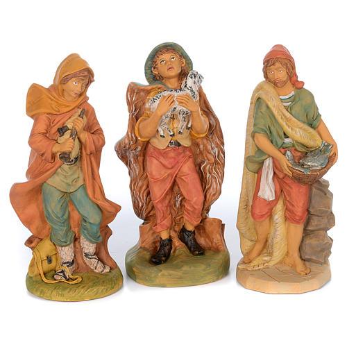 Presepe completo in materiale infrangibile cm 40 - 18 statue 6