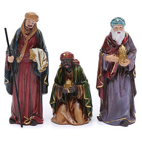 Resin nativity scene set of 12 pieces sized 20 cm	 s3