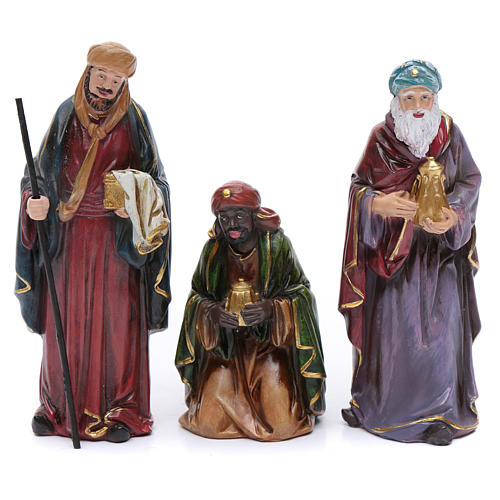 Resin nativity scene set of 12 pieces sized 20 cm	 3