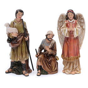 Resin nativity scene set of 12 pieces sized 20 cm	 s4