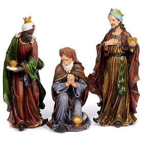 Resin nativity scene set of 11 pieces 76 cm s3