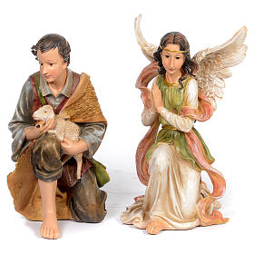 Resin nativity scene set of 11 pieces 76 cm s5