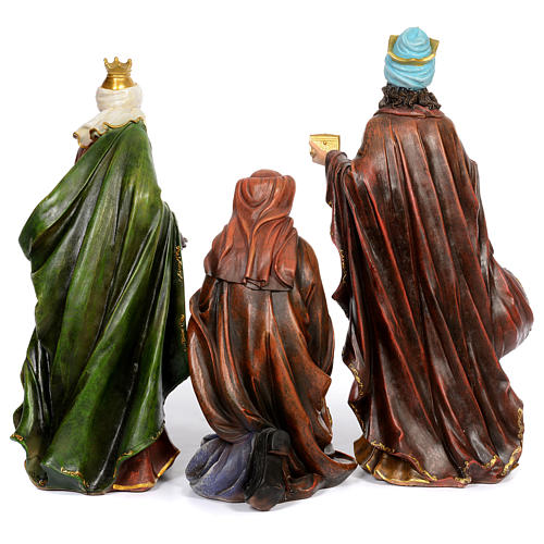 Resin nativity scene set of 11 pieces 76 cm 4