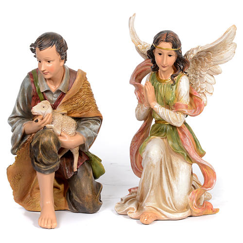 Resin nativity scene set of 11 pieces 76 cm 5