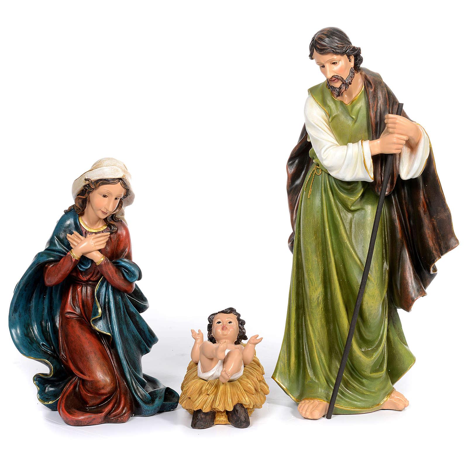 Resin nativity scene set of 11 pieces 76 cm 4