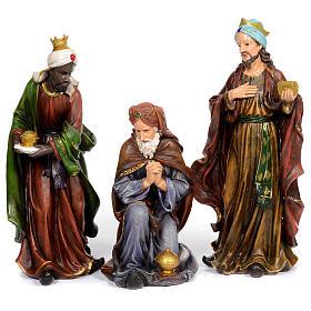 Resin nativity scene set of 11 pieces 76 cm s3