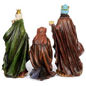 Resin nativity scene set of 11 pieces 76 cm s4
