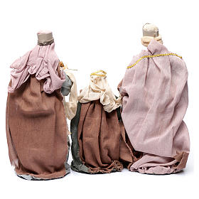Country style nativity scene with 6 pieces in resin and gauze 45 cm s5