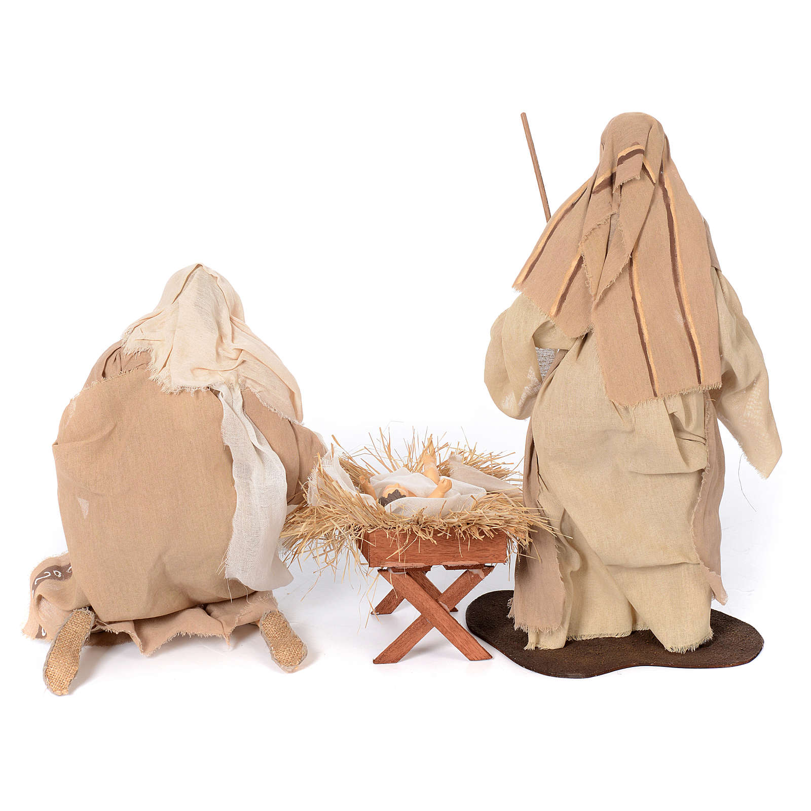 Presepe natural set 6 pz resina 50 cm 4