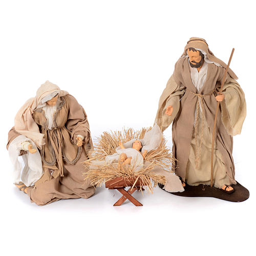 Presepe natural set 6 pz resina 50 cm 2