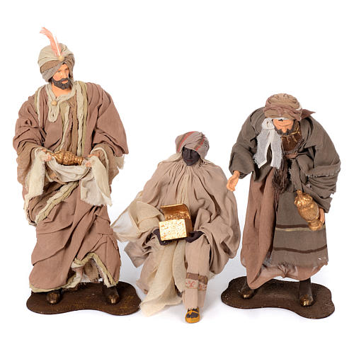 Presepe natural set 6 pz resina 50 cm 3