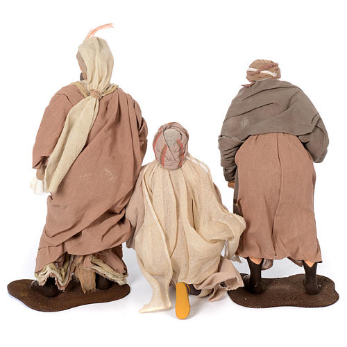 Presepe natural set 6 pz resina 50 cm 5