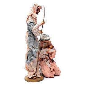 Natividad 50 cm resina y tela rosa y celeste s3