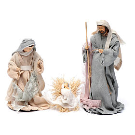 Presepe set 6 pz garza stile country e resina 20 cm s2