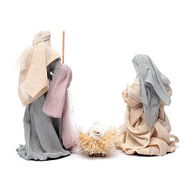 Presepe set 6 pz garza stile country e resina 20 cm s3