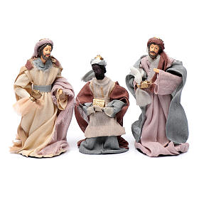 Presepe set 6 pz garza stile country e resina 20 cm s4