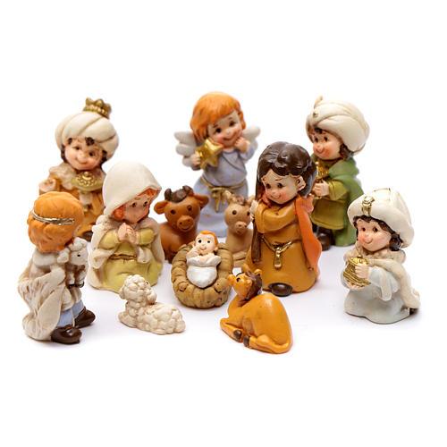 Crèche 60 cm résine peinte 11 personnages 10