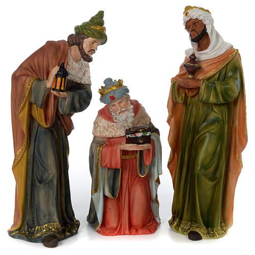 Crèche 60 cm résine peinte 11 personnages 19