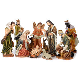 Nativity Scene 61 cm, painted resin, 11 figurines s1