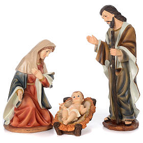 Nativity Scene 61 cm, painted resin, 11 figurines s3