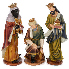 Nativity Scene 61 cm, painted resin, 11 figurines s4