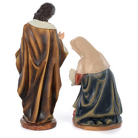 Nativity Scene 61 cm, painted resin, 11 figurines s8