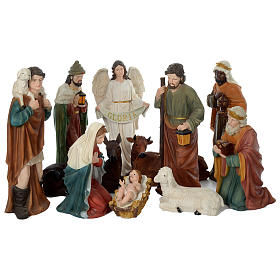 Nativity scene in resin 80 cm with 11 pieces s15
