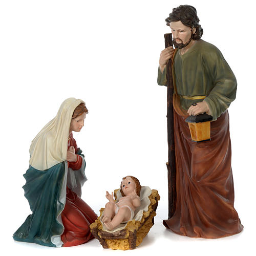 Nativity scene in resin 80 cm with 11 pieces 17